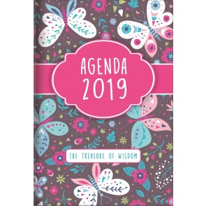 2019 Treasure of Wisdom Daily Agenda (Butterflies)